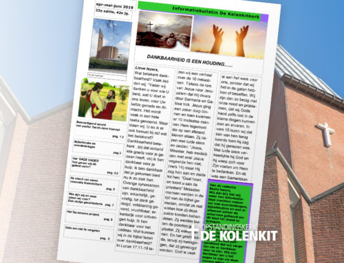 Informatiebulletin de Kolenkitkerk – Editie 33 – april 2019
