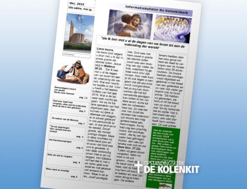 Informatiebulletin de Kolenkitkerk – Editie 35 – december 2019