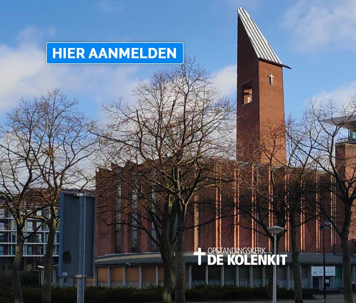 Eerste dienst 19 juli in de Kolenkitkerk in Amsterdam