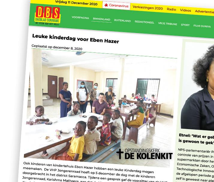 VHP Jongerenraad bezorgt kindertehuis Eben Haezer een motiverende kinderdag