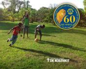 Lions Club Paramaribo Noord helpt kindertehuis Eben Haëzer in Suriname met de plantenkas.